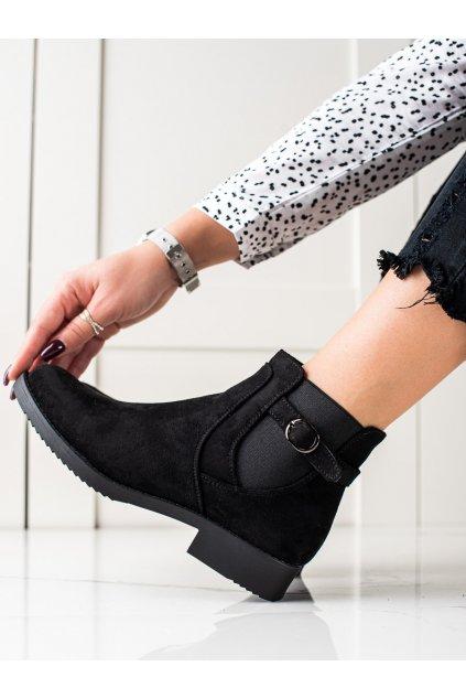 Čierne dámske topánky J. star kod S9198/A-B