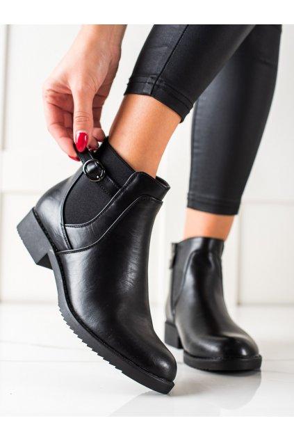 Čierne dámske topánky J. star kod S9198B