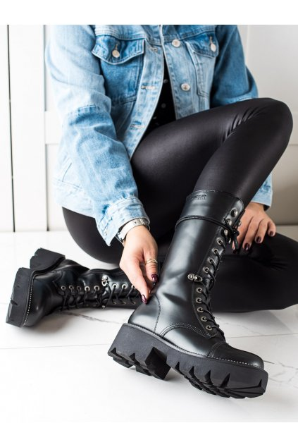 Čierne dámske topánky Big star kod II274115B