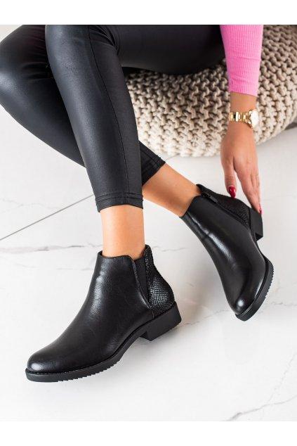 Čierne dámske topánky J. star kod S1814-1B/B