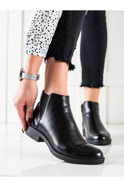 Čierne dámske topánky J. star kod S1814B