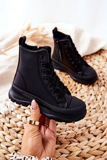 Detské tenisky farba čierna kód obuvi 820-2A BLK