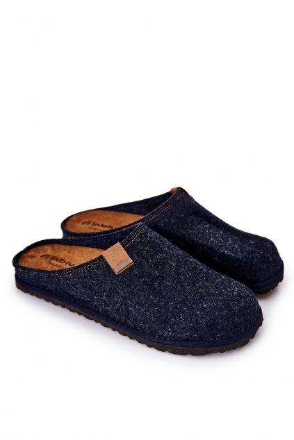 Pánske šľapky farba modrá kód obuvi S1000001 BLU/GRE