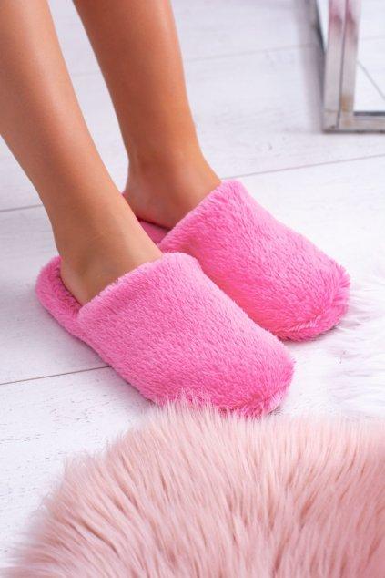 Dámske šľapky farba ružová kód obuvi K-26 ROSE