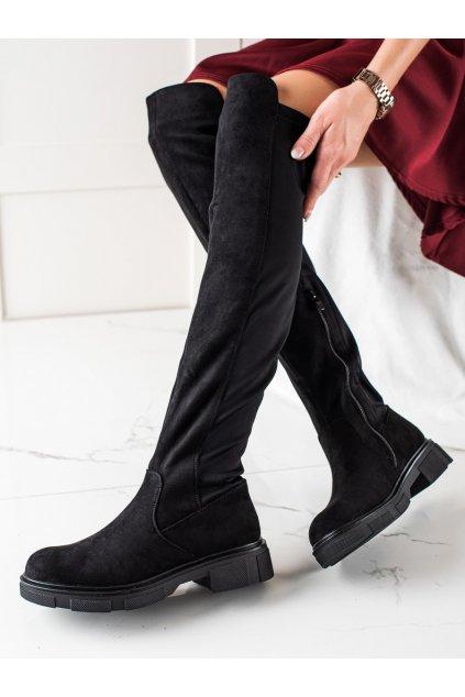 Čierne dámske čižmy Trendi kod