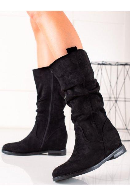 Čierne dámske čižmy Renda kod 8998-1B