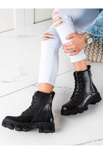 Čierne dámske topánky Trendi kod HBL-11B/CR
