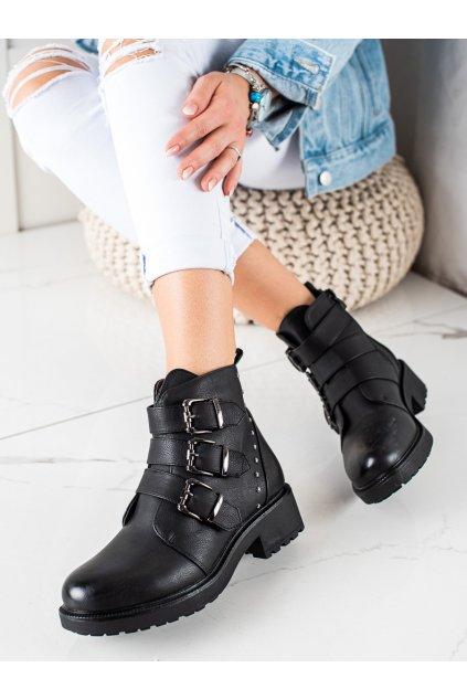 Čierne dámske topánky Anesia paris kod BO-510B