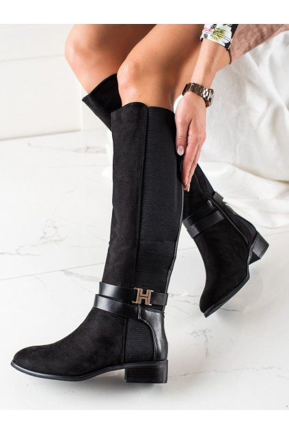 Čierne dámske čižmy Yes mile kod