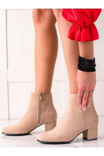 Hnedé dámske topánky Lovery kod MM788KH
