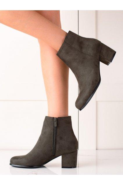 Zelené dámske topánky Lovery kod MM788GR