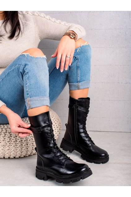 Čierne dámske topánky Sergio leone kod TR745B
