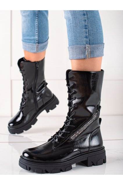 Čierne dámske topánky Sergio leone kod TR747B/B