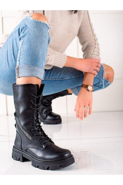 Čierne dámske topánky Sergio leone kod TR747B