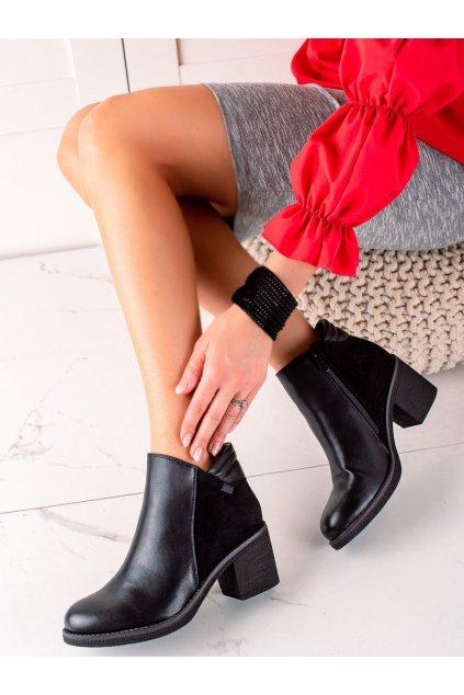 Čierne dámske topánky Trendi kod VRO-165B