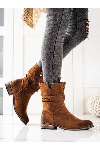 Hnedé dámske topánky Evento kod