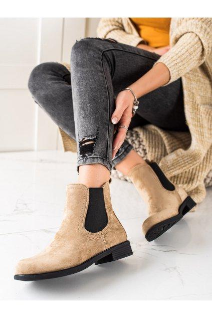 Hnedé dámske topánky Trendi kod MR-9KH