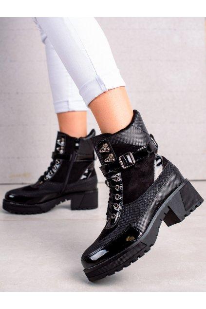 Čierne dámske topánky Queen vivi kod 58-63B
