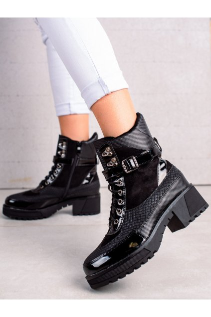 Čierne dámske topánky Queen vivi kod