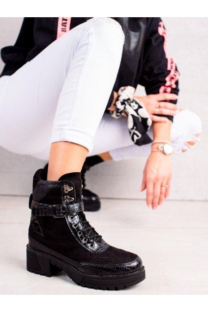 Čierne dámske topánky Queen vivi kod 58-62B