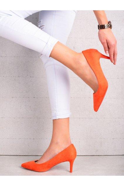 Oranžové dámske lodičky Milaya kod