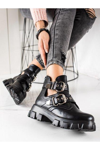 Čierne dámske topánky Bestelle kod RQ359B