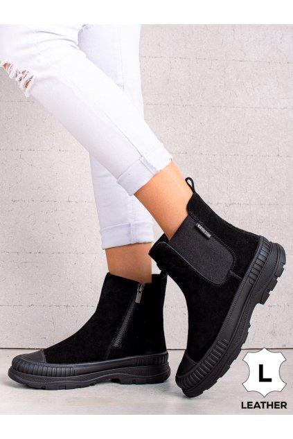 Čierne dámske topánky Big star kod II274354B