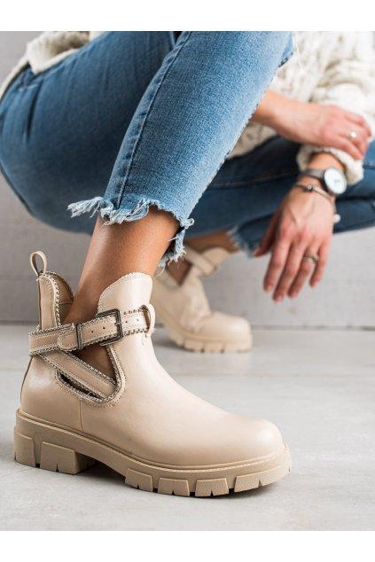 Hnedé dámske topánky Bestelle kod 20223C-18BE