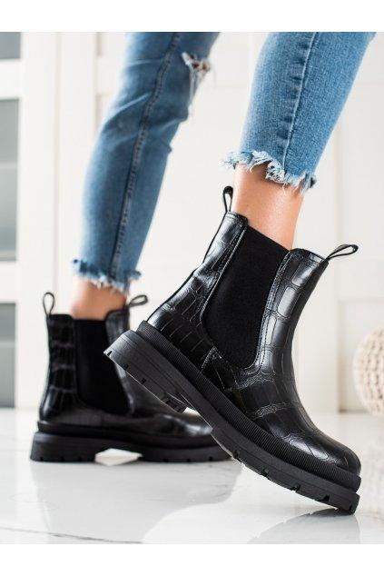 Čierne dámske topánky Weide kod