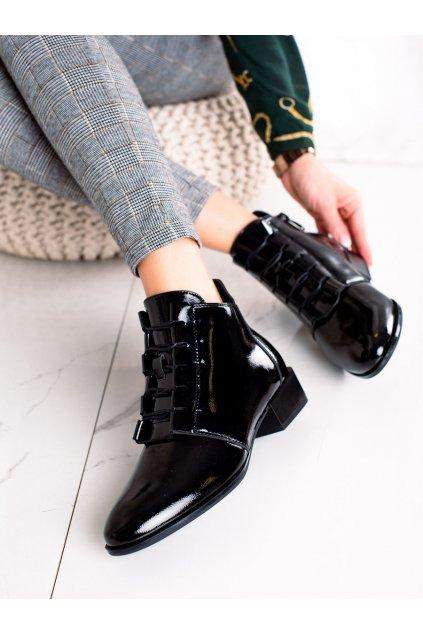 Čierne dámske topánky W. potocki kod 21-12037B
