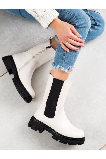 Biele dámske topánky W. potocki kod 21-18001W