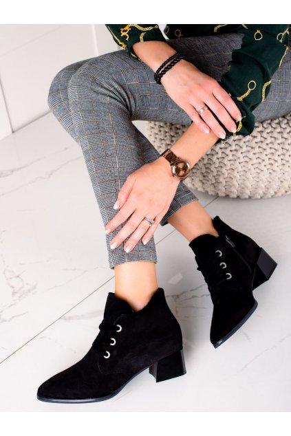 Čierne dámske topánky Sergio leone kod BT220B