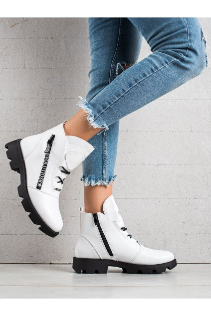 Biele dámske topánky Sergio leone kod BT740W