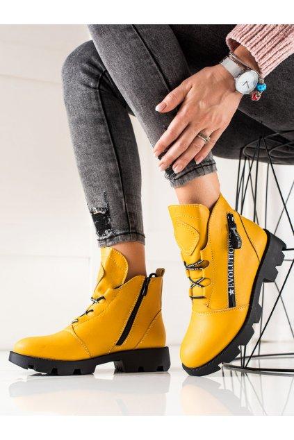 Žlté dámske topánky Sergio leone kod BT740Y