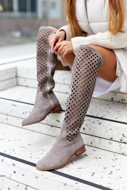 Dámske čižmy farba hnedá kód obuvi 4047-2 CAP WEL