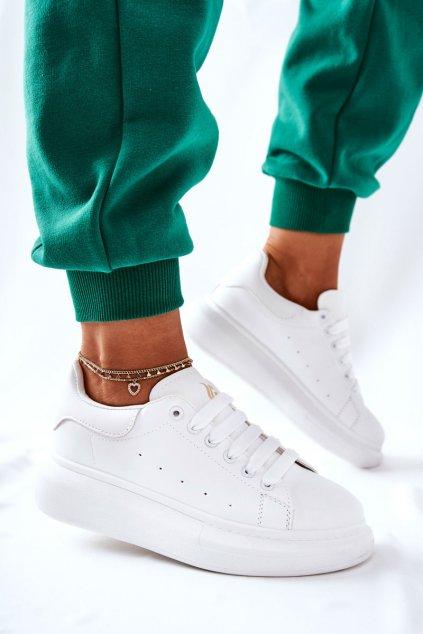 Dámske tenisky farba biela kód obuvi 111 WHITE