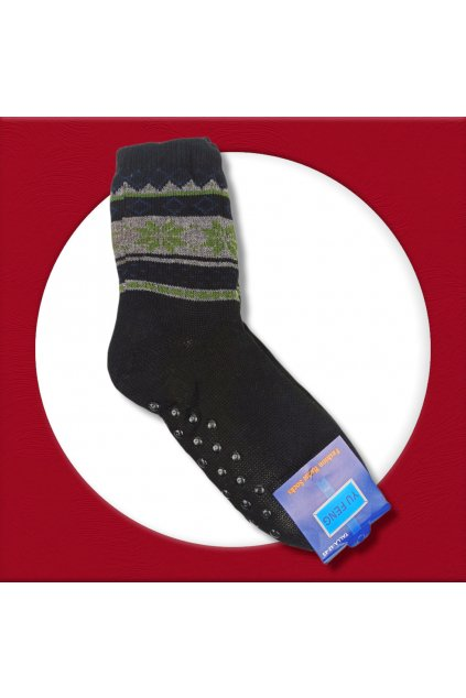 Pánske zateplené ponožky na zimu čierne YF01M Black