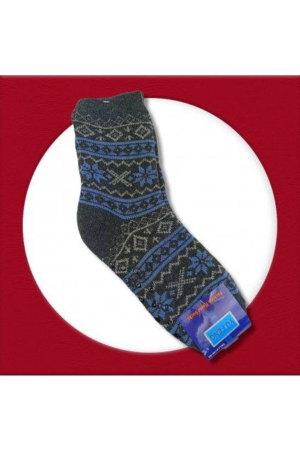 Pánske zateplené ponožky na zimu tmavo sivé YF02M Dark Grey
