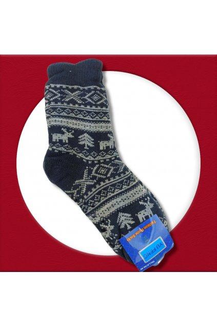 Pánske zateplené ponožky na zimu tmavomodré YF03M Blue