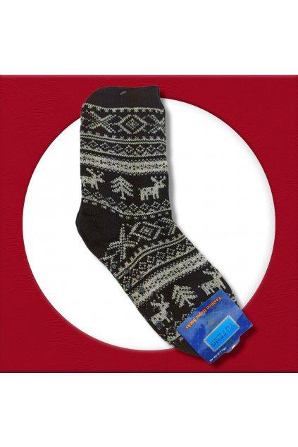 Pánske zateplené ponožky na zimu čierne YF03M Black