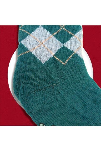 Pánske zateplené ponožky na zimu zelené YF04M Green