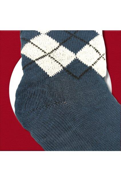 Pánske zateplené ponožky na zimu sivo modré YF04M G. Blue