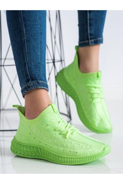 Zelené dámske tenisky Trendi kod PC01GR