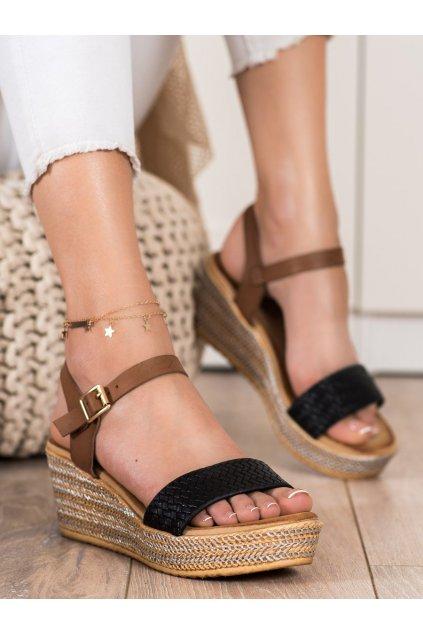 Čierne dámske sandále Bona kod 6508B