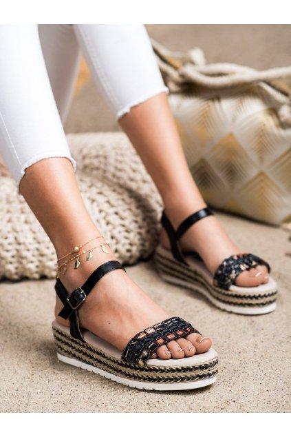 Čierne dámske sandále Trendi kod B119-09-02NE