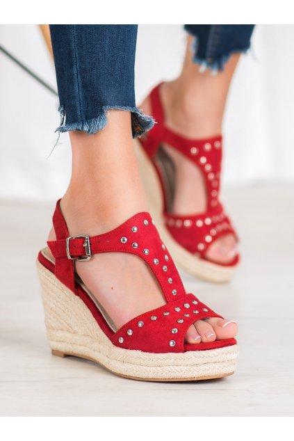 Červené dámske sandále Kylie kod K1952001ROJ