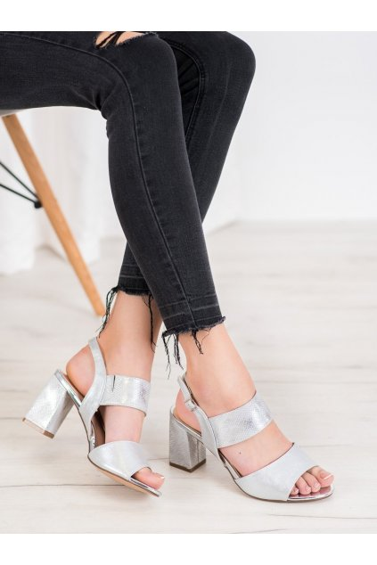 Sivé dámske sandále Vinceza kod YQE20-17081S