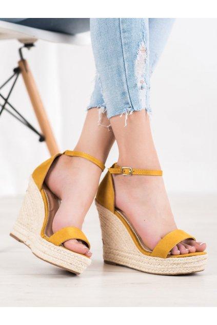Žlté dámske sandále Trendi kod NGSJ-3Y