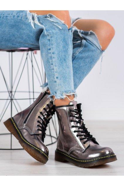 Sivé dámske topánky Mckey kod GL429/20GUN