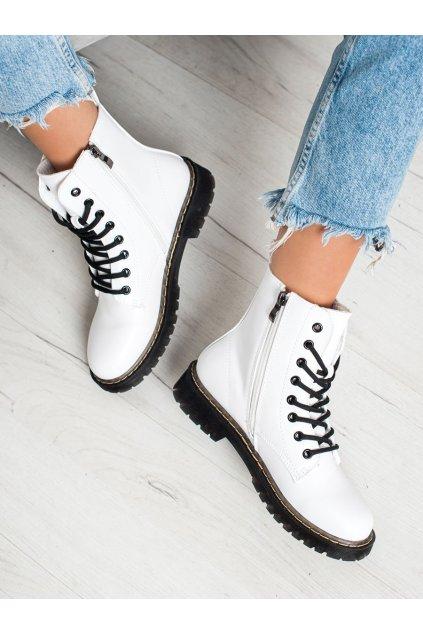 Biele dámske topánky Small swan kod LT113W
